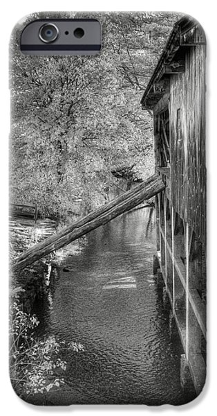 Grist Mill iPhone Cases - Old Grist Mill iPhone Case by Joann Vitali