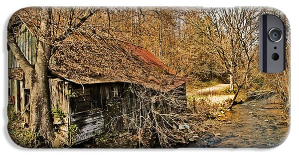 Susan Leggett iPhone Cases - Old Home on a River iPhone Case by Susan Leggett
