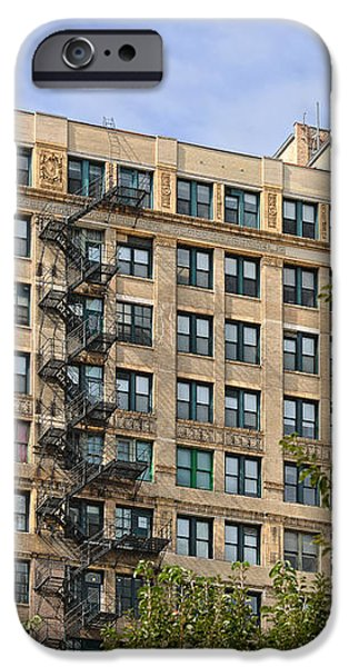 Old iron fire escape Chicago IL iPhone Case by Christine Till