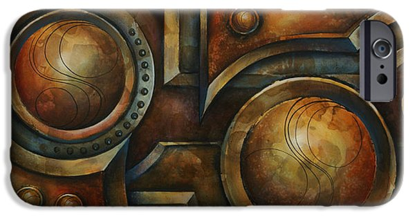 Chain-ring iPhone Cases - Old Iron iPhone Case by Michael Lang