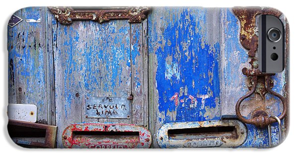 Dirty iPhone Cases - Old Mailboxes iPhone Case by Carlos Caetano