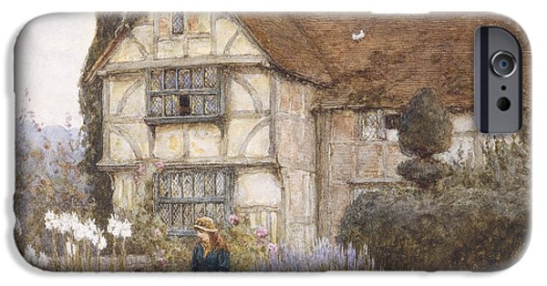 Garden iPhone Cases - Old Manor House iPhone Case by Helen Allingham