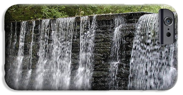 Old Mills iPhone Cases - Old Mill Waterfall iPhone Case by Bill Cannon
