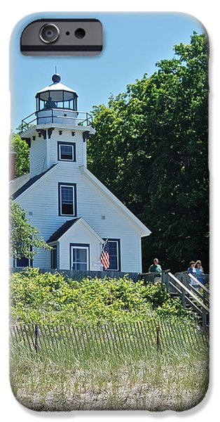 Old Mission Point Lighthouse 5306 iPhone Case by Michael Peychich