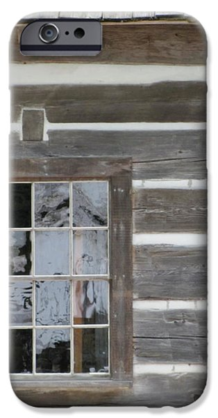 Cabin Window iPhone Cases - Old Mission Reflections iPhone Case by Kelly Mezzapelle