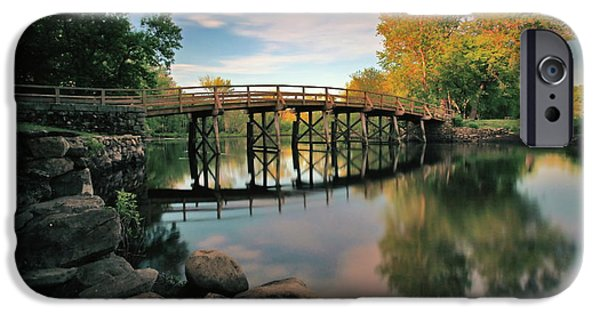 Concord Photographs iPhone Cases - Old North Bridge iPhone Case by Rick Berk