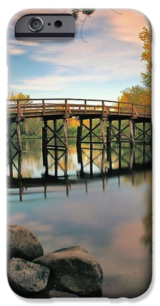 Old North Bridge iPhone Case by Rick Berk