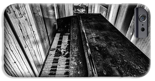 Piano Photographs iPhone Cases - Old piano organ iPhone Case by John Farnan