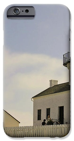 Old Point Loma Lighthouse - Cabrillo National Monument San Diego CA iPhone Case by Christine Till