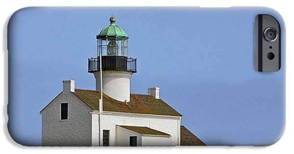 Lightstations iPhone Cases - Old Point Loma Lighthouse San Diego California iPhone Case by Christine Till