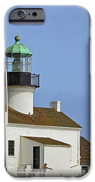 Old Point Loma Lighthouse San Diego California iPhone Case by Christine Till