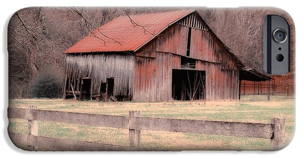 Old Barn iPhone Cases - Old Red Barn iPhone Case by Betty LaRue
