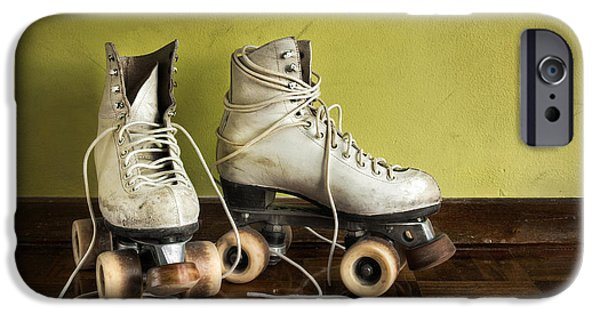 Roller Skates iPhone Cases - Old Roller-Skates iPhone Case by Carlos Caetano