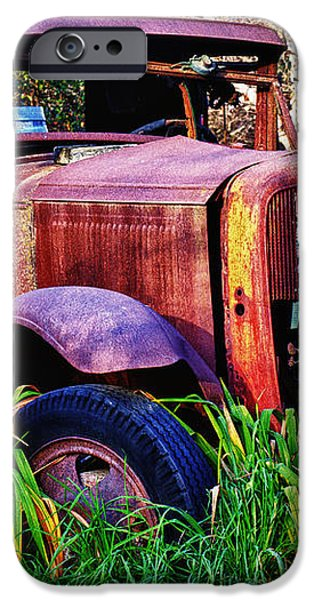 Old rusting truck iPhone Case by Garry Gay