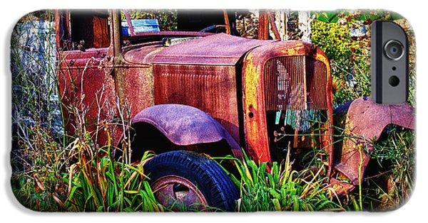 Truck iPhone Cases - Old rusting truck iPhone Case by Garry Gay