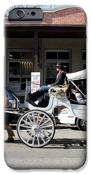 Old Sacramento California . Horse Drawn Buggy . 7D11482 iPhone Case by Wingsdomain Art and Photography