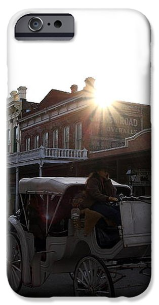 Old Sacramento California In Partial Silhouette . 7D11719 iPhone Case by Wingsdomain Art and Photography