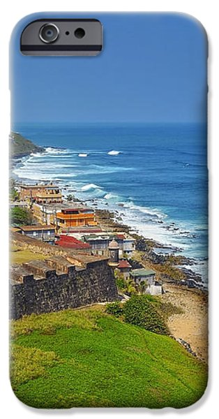 Old San Juan Coastline iPhone Case by Stephen Anderson