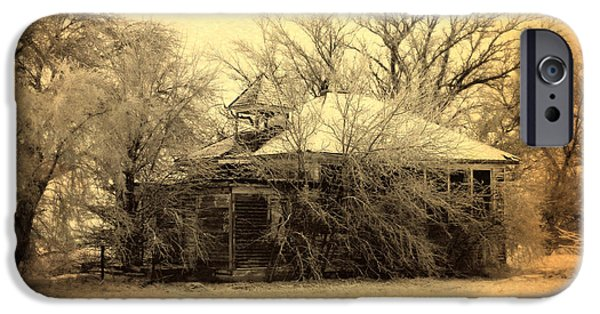 Old School House iPhone Cases - Old School House iPhone Case by Julie Hamilton