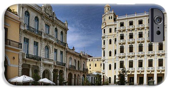 Historic Site iPhone Cases - Old Square. Havana. Cuba iPhone Case by Juan Carlos Ferro Duque