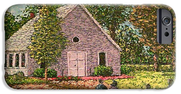 Headstones Paintings iPhone Cases - Old stome Church iPhone Case by Frank Morrison