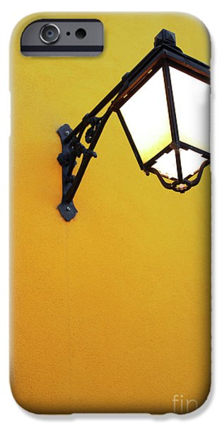 Municipal iPhone Cases - Old Street Lamp iPhone Case by Carlos Caetano