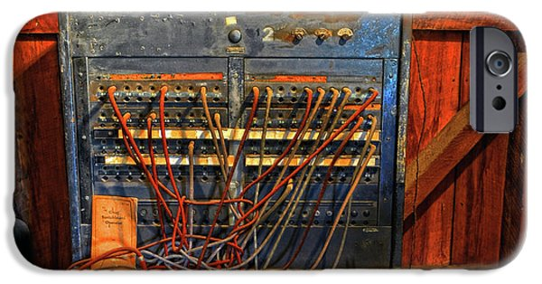 Electrical Component iPhone Cases - Old Switchboard iPhone Case by Dave Mills