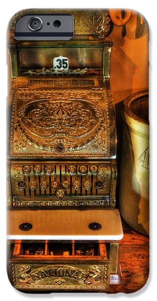 Old Time Cash Register - General Store - vintage - nostalgia  iPhone Case by Lee Dos Santos