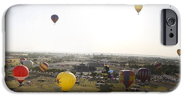 Basket iPhone Cases - Old Timers Balloon Rally 2011 Mass Ascension 2 iPhone Case by Shawn Naranjo