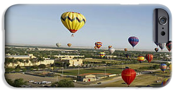 Basket iPhone Cases - Old Timers Balloon Rally 2011 Mass Ascension iPhone Case by Shawn Naranjo