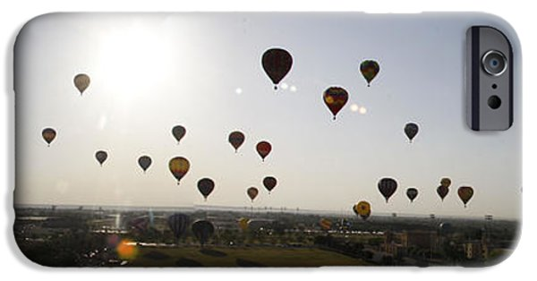 Basket iPhone Cases - Old Timers Balloon Rally Mass Ascension 4 iPhone Case by Shawn Naranjo