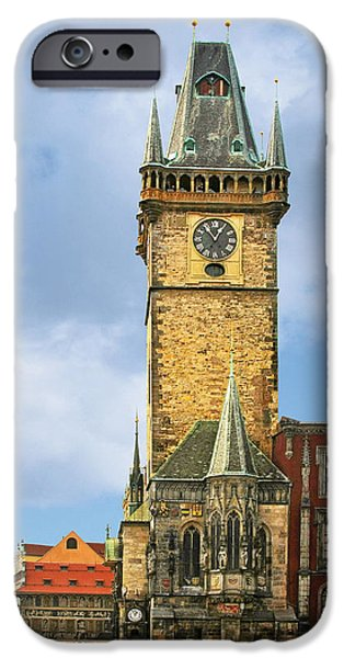 Old Town Hall Prague CZ iPhone Case by Christine Till