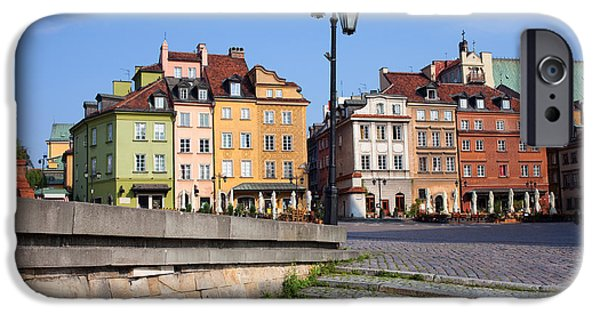 Polish Culture iPhone Cases - Old Town in Warsaw iPhone Case by Artur Bogacki