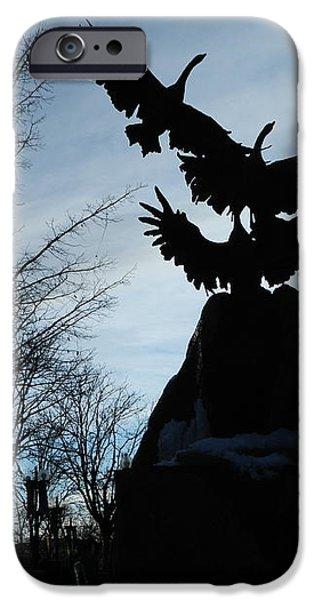 Old Town Silhouette  iPhone Case by Sara  Mayer