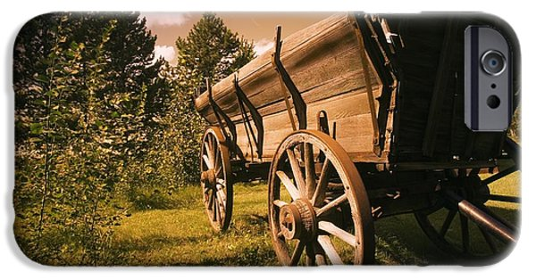Nineteenth iPhone Cases - Old Wagon iPhone Case by Darren Greenwood