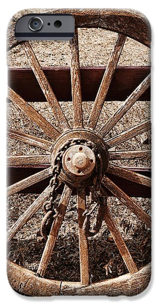 Old West Wheel iPhone Case by Kelley King