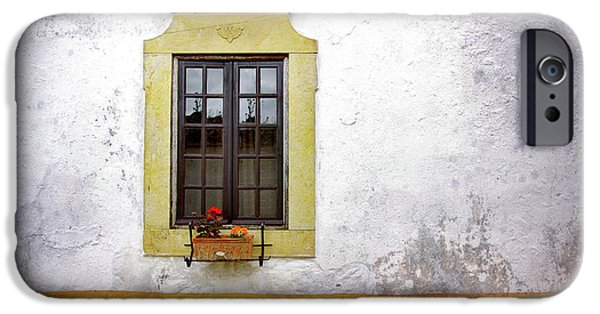 Flowerpot iPhone Cases - Old Window iPhone Case by Carlos Caetano