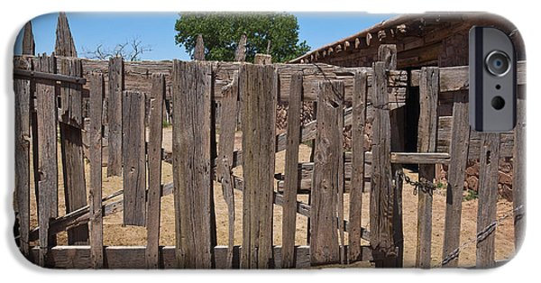 Historic Site iPhone Cases - Old Wooden Fence Gate iPhone Case by Thom Gourley/Flatbread Images, LLC