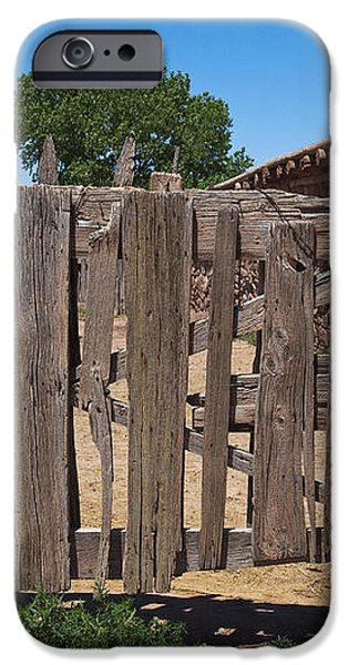 Old Wooden Fence Gate iPhone Case by Thom Gourley/Flatbread Images, LLC