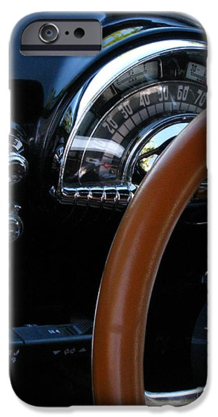 Fat Tire iPhone Cases - Oldsmobile 88 Dashboard iPhone Case by Peter Piatt