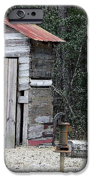 Oldtime Outhouse - Digital Art iPhone Case by Al Powell Photography USA