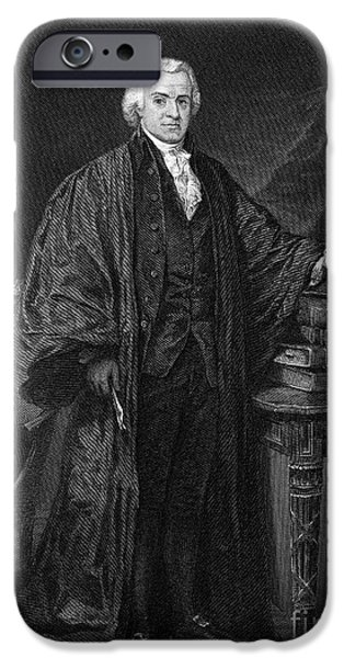 OLVIER ELLSWORTH (1745-1807). Chief Justice of the United States Supreme Court, 1796-1799. Steel engraving, 1863 iPhone Case by Granger