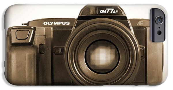 Olympus iPhone Cases - Olympus OM77AF iPhone Case by Mike McGlothlen
