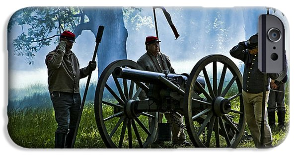 Civil War Re-enactment iPhone Cases - On Command iPhone Case by Kim Henderson