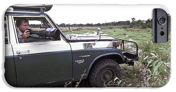 Wildlife Photographer iPhone Cases - On Photo Safari In Kenya iPhone Case by Greg Dimijian