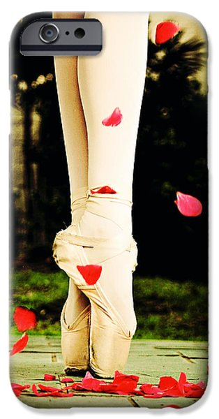 Dance Ballet Roses iPhone Cases - On Point iPhone Case by Heather Arsement