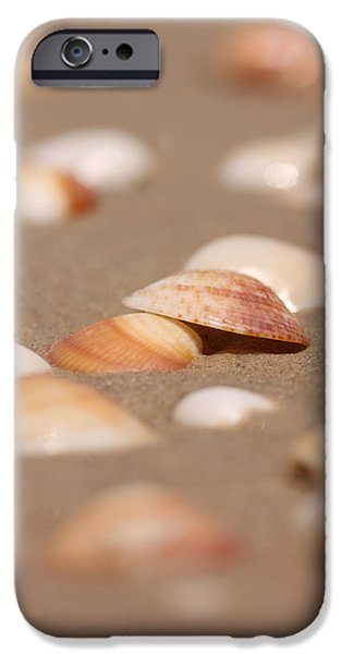 Time Pyrography iPhone Cases - On The Beach iPhone Case by Alon Meir
