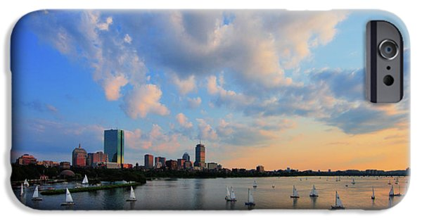 Boston iPhone Cases - On The River iPhone Case by Rick Berk