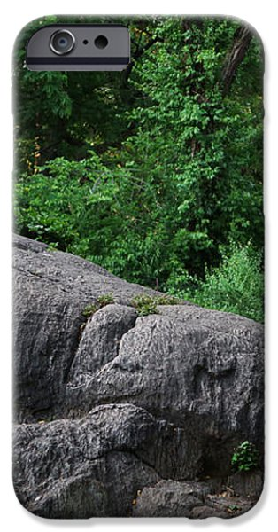 On the Rocks in Central Park iPhone Case by Lee Dos Santos