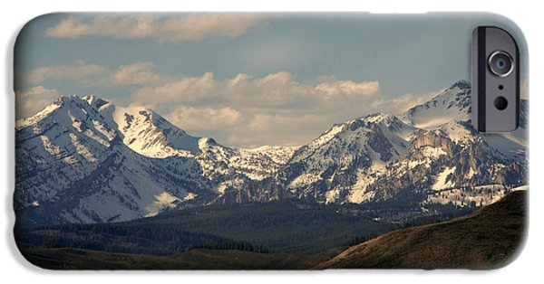 Nature Scene iPhone Cases - On the way to Jacksonhole WY iPhone Case by Susanne Van Hulst
